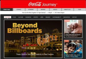 Coca Cola Journey, ejemplo de brand journalism de Coca Cola