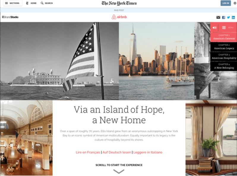 native ads airbnb