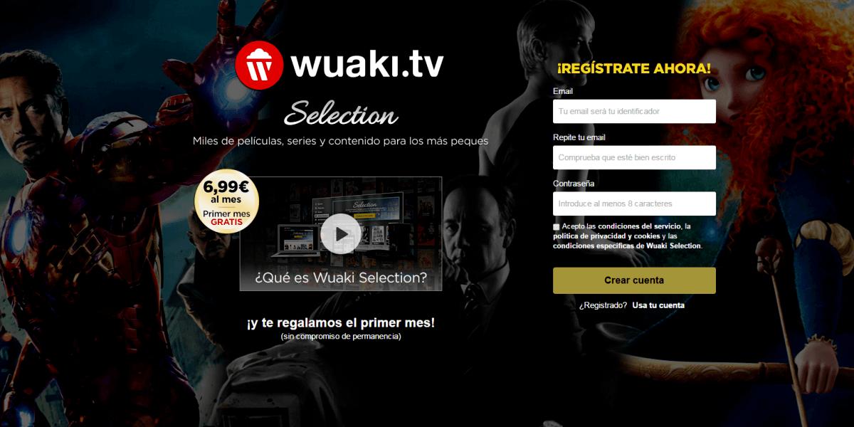 Landing Page ejemplo wuaki
