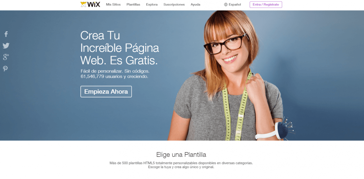 Landing Page ejemplo wix