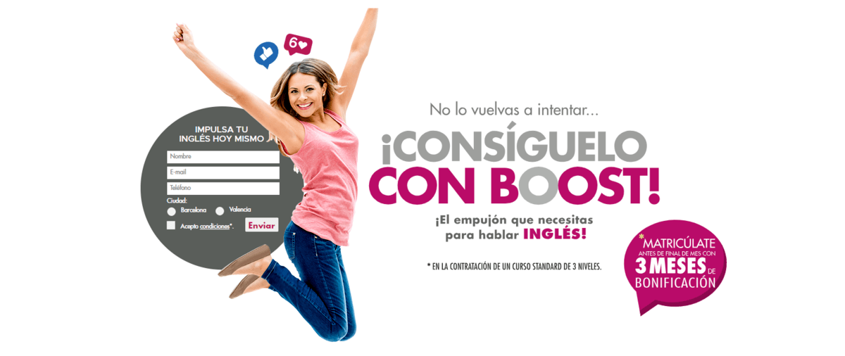 Landing Page ejemplo clases ingles