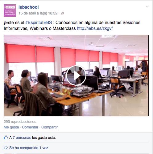 vídeo espíritu iebs facebook
