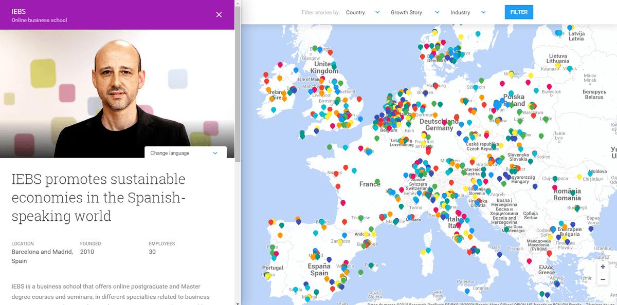 Google destaca IEBS en el mapa Europeo y su apuesta por la economía sostenible