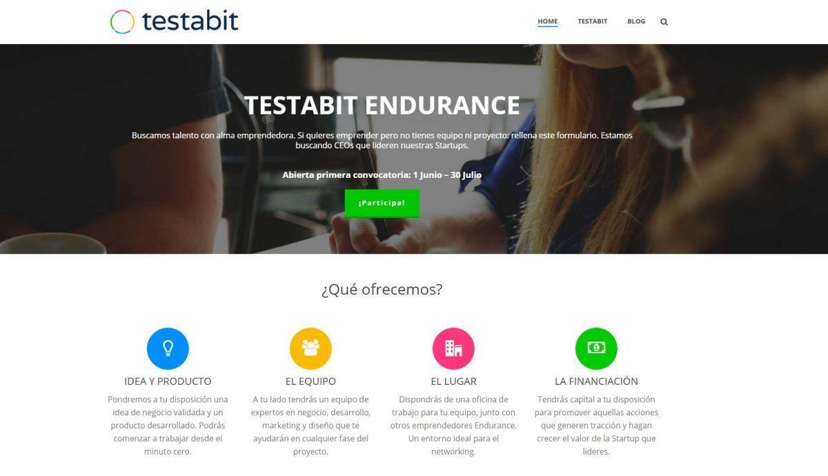 Se buscan emprendedores con talento: Testabit Endurance
