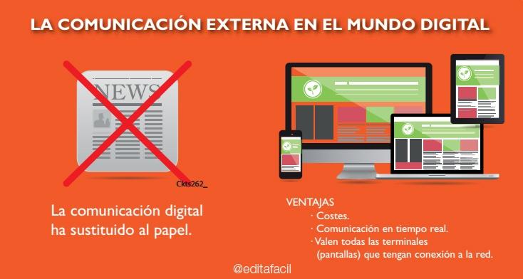 Comunicación digital versus Comunicación en papel