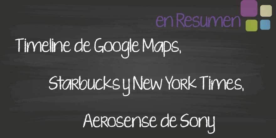 Llega el Timeline de Google Maps y otras novedades tecnologicas