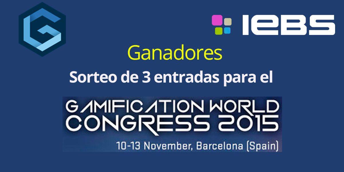 ¡Ya tenemos los Ganadores de las entradas para el Gamification World Congress!