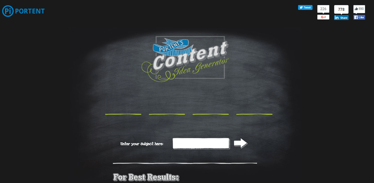 Content Idea Generator herramientas de inbound marketing