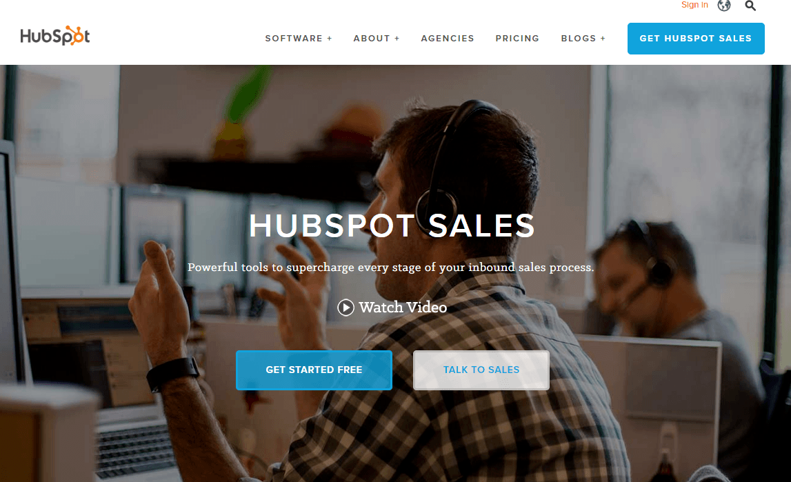 Hubspot Sales herramientas de inbound marketing