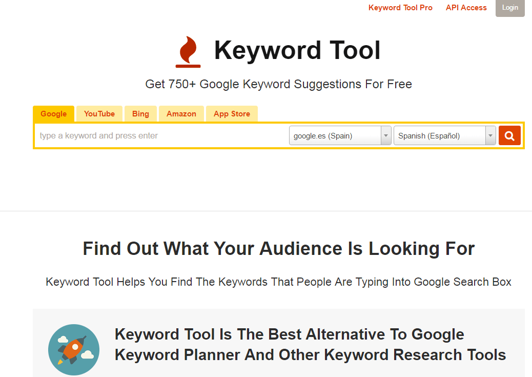 Keyword Tool Herramientas de inbound marketing