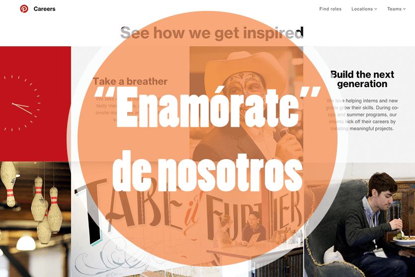 Ejemplos de páginas 'trabaja con nosotros' que consiguen atraer talento a la empresa