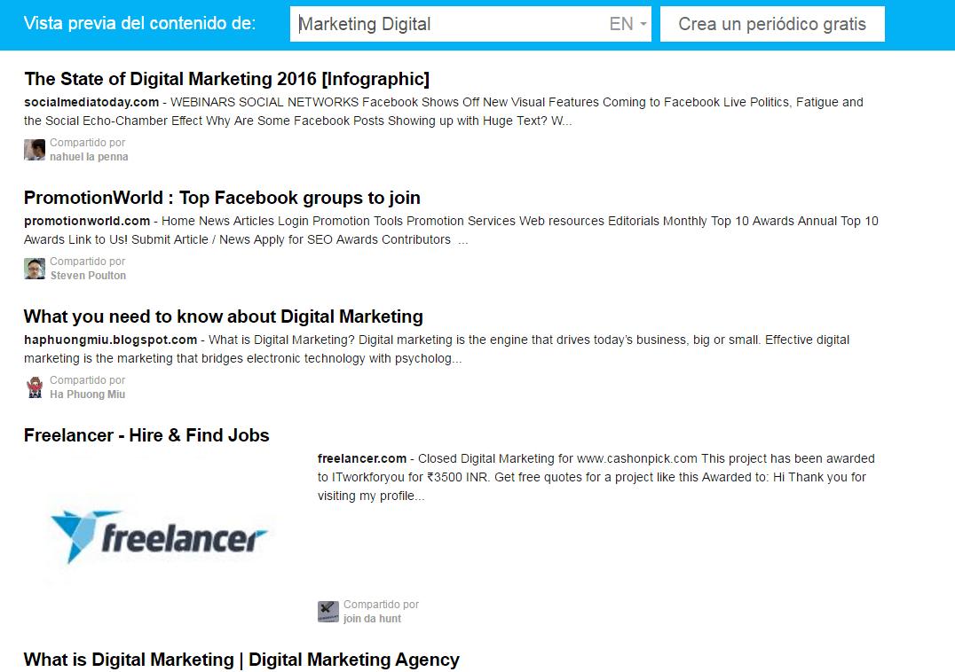 Periódico Digital Marketing Digital