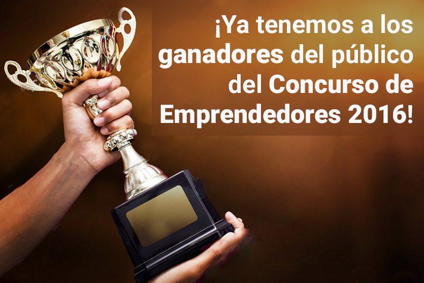¡Anunciamos a los ganadores del público del Concurso de Emprendedores!