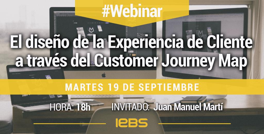 webinar diseño de la Experiencia de Cliente a través del Customer Journey Map