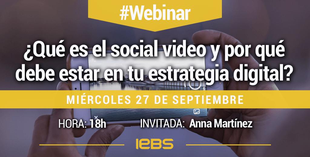 webinar Que es el social video y por que debe estar en tu estrategia digital