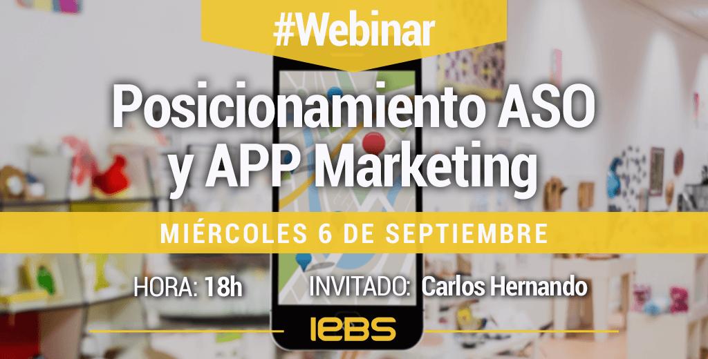 Webinar Posicionamiento ASO y APP Marketing