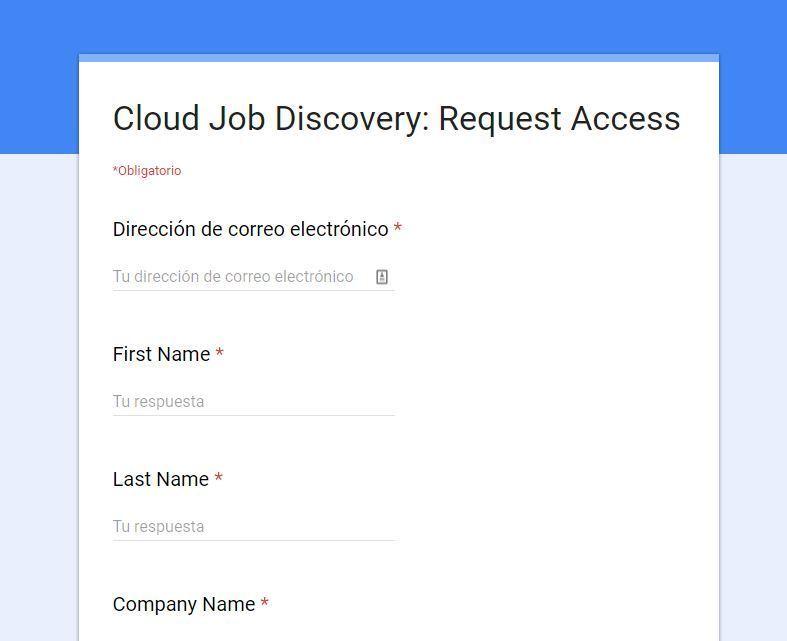 Entrar en Google Jobs