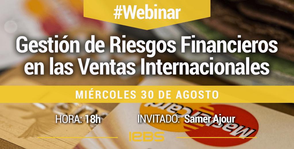 Webinar Gestión de Riesgos Financieros en las Ventas Internacionales