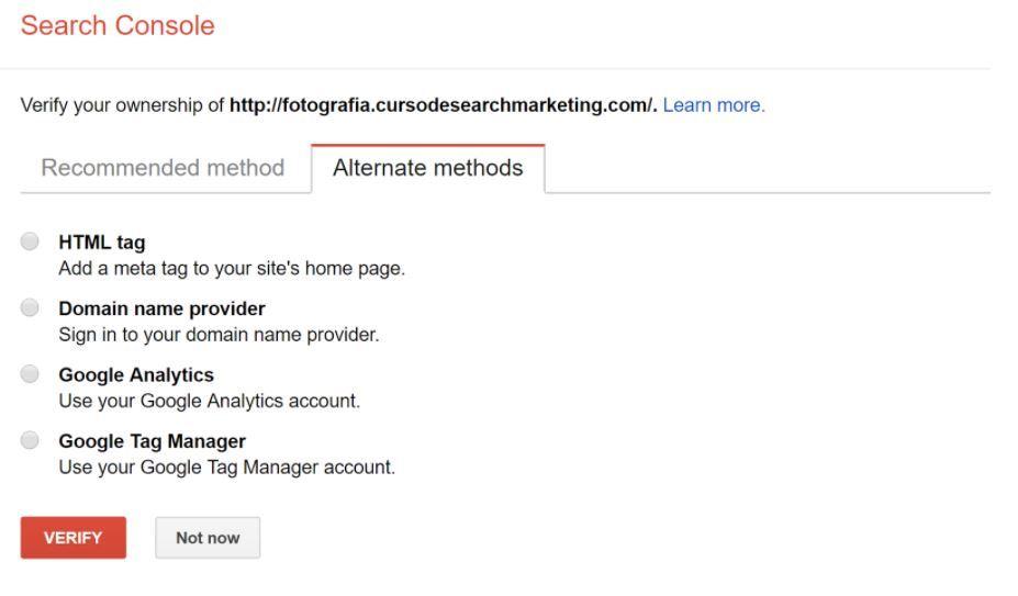 Verificación Search Console