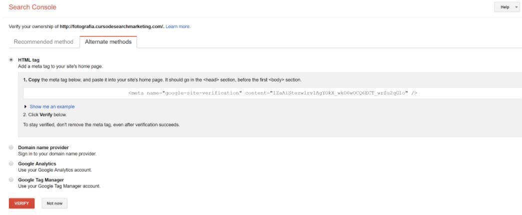 Verificación con HTML