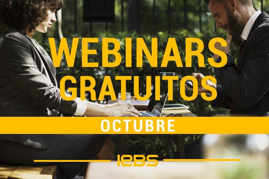Webinars gratuitos que no te puedes perder en octubre