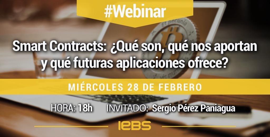 Webinar 28 febrero IEBS smart contracts