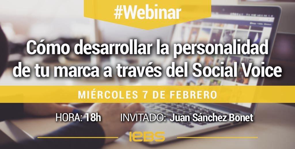 Webinar 7 febrero IEBS desarrllar pesonalidad social voice
