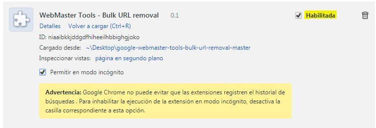 Eliminar URLs Search Console sexto paso