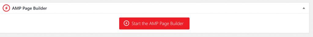 Start Amp page builder