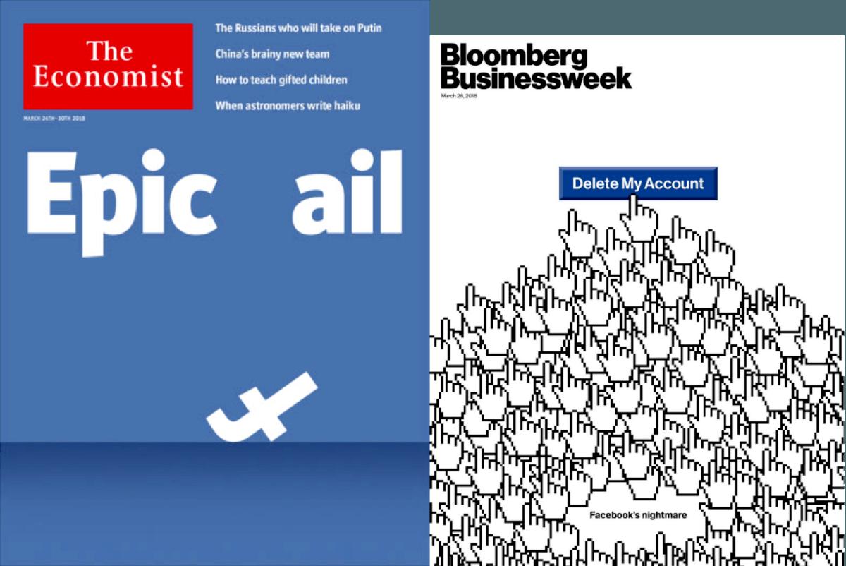 Portada The Economist Bloomberg Crisis de Facebook