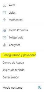Proteger cuenta twitter