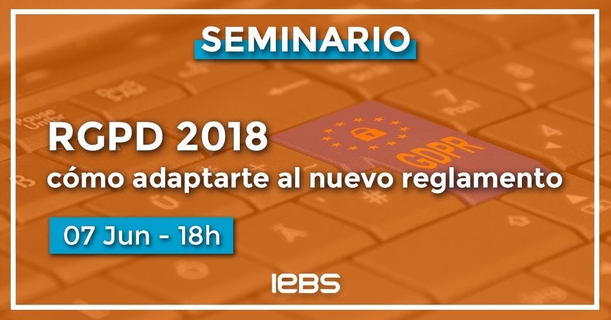 Seminario 7 junio RGPD 2018