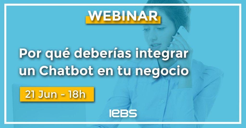 Webinar, razones para integrar un chatbot en un negocio