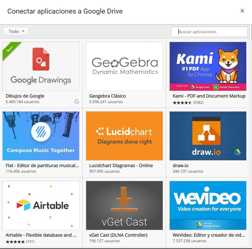 aplicaciones drive