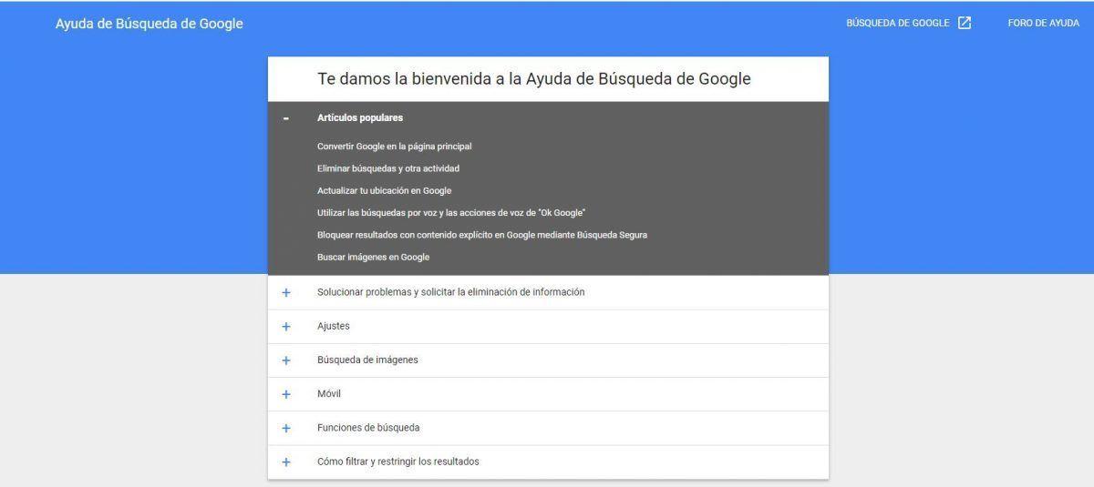 Ayuda de búsquedas de Google