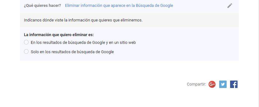 Eliminar información que aparece en la Búsqueda de Google