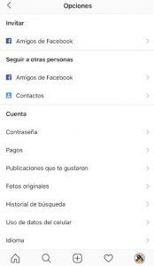 Eliminar notificaciones instagram push, entrar en configuración