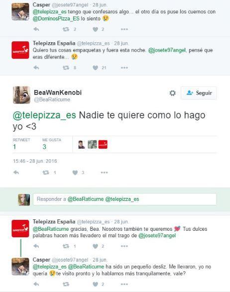 Respuesta Community Manager telepizza