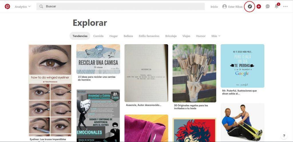 Explorar con Pinterest