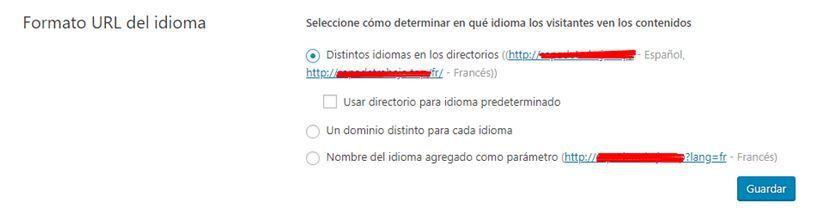 formato URL del idioma