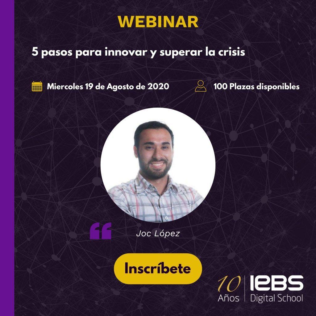 Webinars gratuitos que no te puedes perder este mes - Joc López 1024x1024